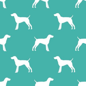 German Shorthair Pointer dog silhouette turquoise