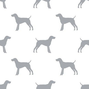 German Shorthair Pointer dog silhouette white grey