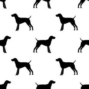German Shorthair Pointer dog silhouette white