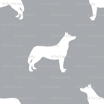 Husky dog silhouette grey