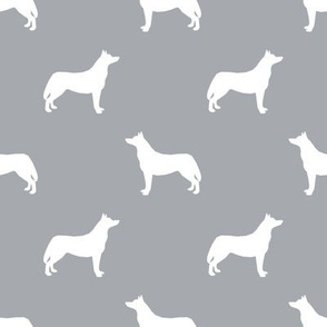 Husky dog silhouette grey