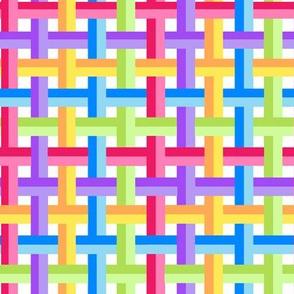 Rainbow Weave White