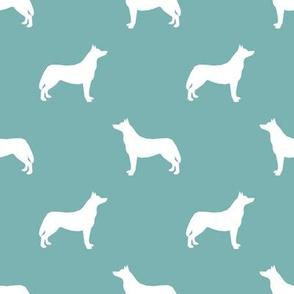 Husky dog silhouette gulf blue