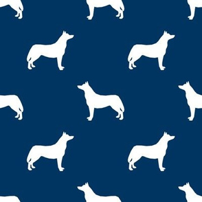 Husky dog silhouette navy