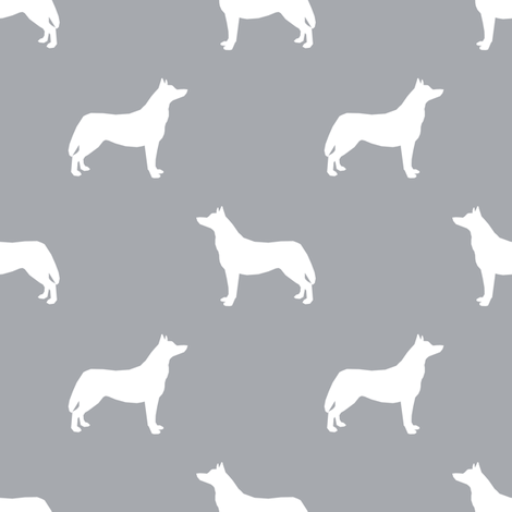 Husky dog silhouette quarry fabric by petfriendly on Spoonflower - custom fabric