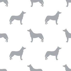 Husky dog silhouette white grey