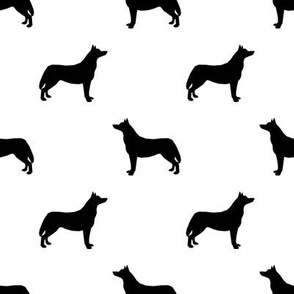 Husky dog silhouette white