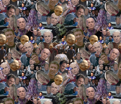 Galaxy Quest Packed Characters fabric by smelinkoff on Spoonflower - custom fabric