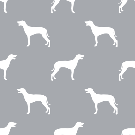 Weimaraner dog silhouette quarry fabric by petfriendly on Spoonflower - custom fabric