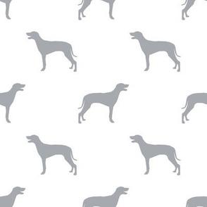 Weimaraner dog silhouette white grey