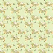 Retro Nesting Birds