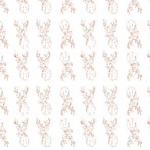 Indy print coral pixellated deer