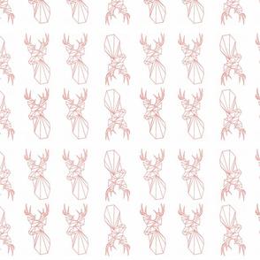 Indy print coral Deer