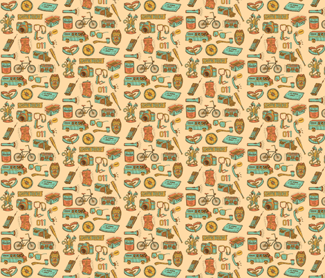 Stranger Things Icons fabric by nerdfabrics on Spoonflower - custom fabric