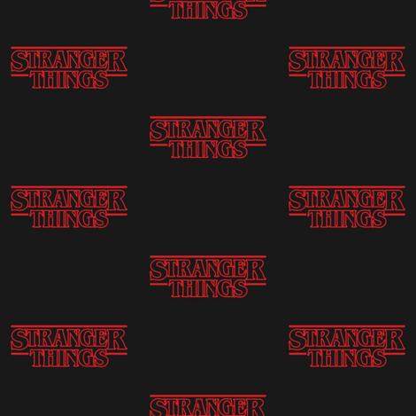 Stranger Things Logo fabric by nerdfabrics on Spoonflower - custom fabric