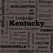 Cities of Kentucky, gray