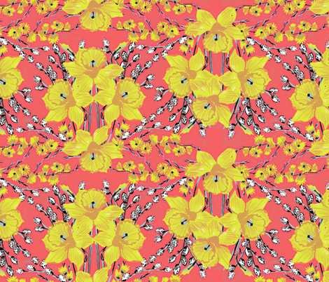 Daffodils #1 fabric by susiprint on Spoonflower - custom fabric