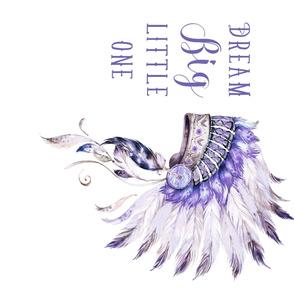 "42""x36"" / 90 degrees / Purple Headdress / Dream Big Little One"