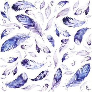"8"" Purple Feathers"