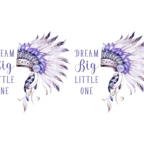 "42""x36"" / 2 to 1 Yard / Purple Headdress with Quote"