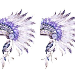 """42""""x36"""" / 2 to 1 Yard / Purple Headdress without Quote"""