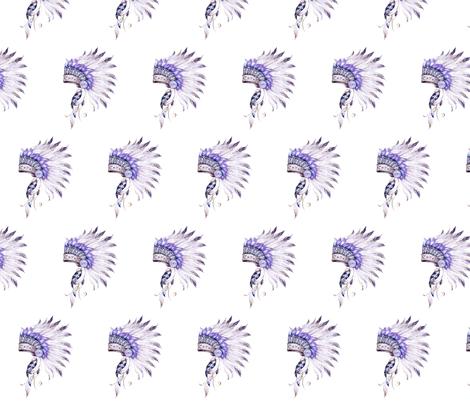 "8"" Purple Headdress  fabric by shopcabin on Spoonflower - custom fabric"