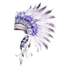 "8"" Purple Headdress"