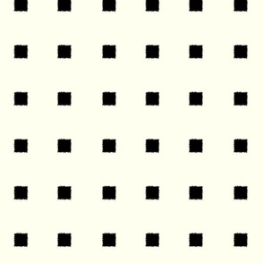 Black on Ivory Squares Rough Stamped edges-ch