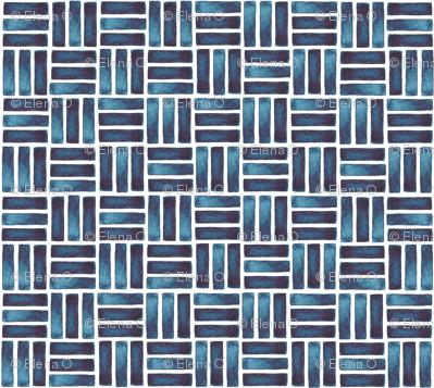 blue watercolour rectangles