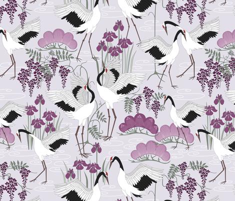 snow_dance_lilac fabric by juditgueth on Spoonflower - custom fabric