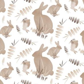 Easter Bunny Rabbit Animal Carrot VegetableNeutral Beige_Miss Chiff Designs