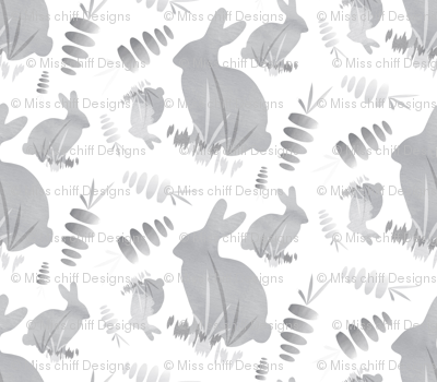 Easter Bunny Rabbit Animal Neutral || Black Gray Grey White Carrot Vegetable _Miss Chiff Designs