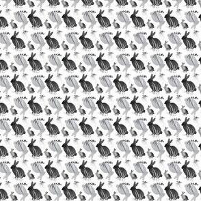 Tiny Easter Bunny Rabbit Gray Grey Black White  Neutral Baby Animal _ Miss Chiff Designs
