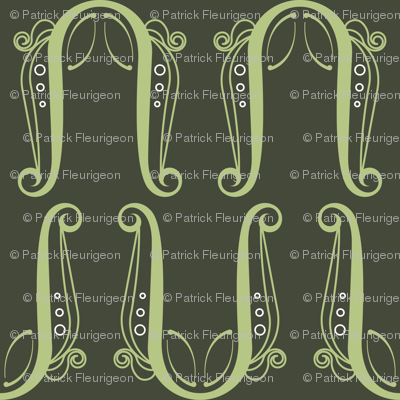 Pattern Lyre - Green/Grey