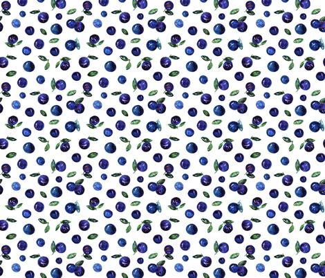 Watercolor blueberries fabric by katerinaizotova on Spoonflower - custom fabric