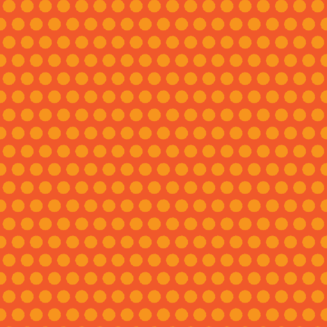 Carrot vegetable Polka Dot Orange Peach Peach Tangerine Fruit Food_Miss Chiff Designs fabric by misschiffdesigns on Spoonflower - custom fabric