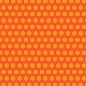 Carrot vegetable Polka Dot Orange Peach Peach Tangerine Fruit Food_Miss Chiff Designs