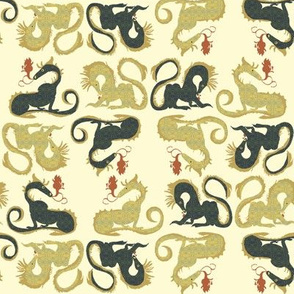 Bayeux Dragons Patterned