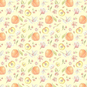 Peach and Magnolia Pattern - Southern Charm