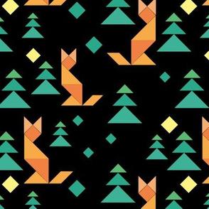 Tangram night forest