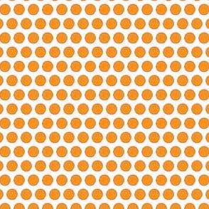Carrot vegetable fruit Orange Peach Tangerine Polka Dot Easter Bunny_Miss Chiff Designs