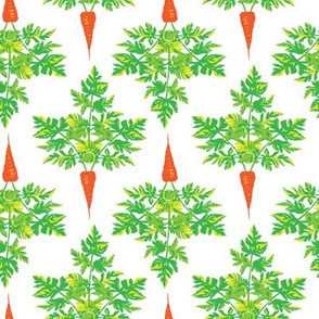 16-13L Carrot Vegetable Food Summer Easter Leaf Leaves Garden Gardener Food Orange Green_Miss Chiff Designs