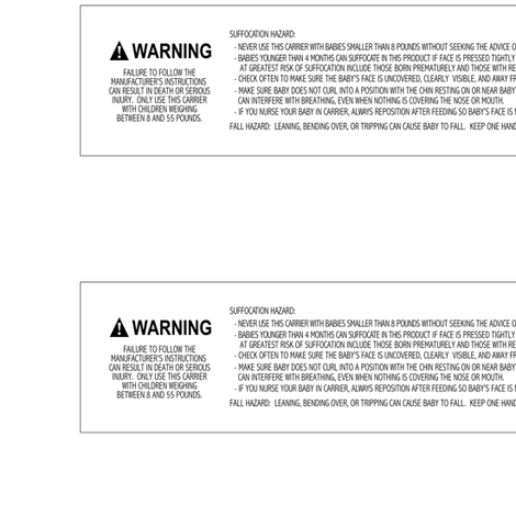 Safety Warning Label, 8-55, Woven Wraps fabric by apaturawovens on Spoonflower - custom fabric