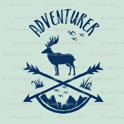 "8"" Adventurer / Minty Green & Navy"