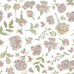 Birds and Bees Floral Pattern