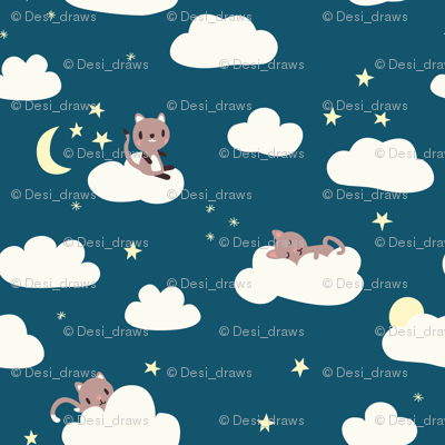 Tiny Cats Night
