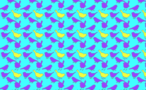 -Birds_of_a_Feather fabric by wildflowerfabrics on Spoonflower - custom fabric