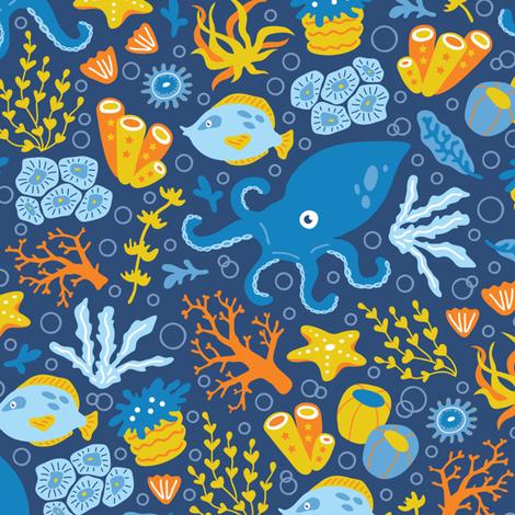 sea_pattern fabric by yuliia_studzinska on Spoonflower - custom fabric