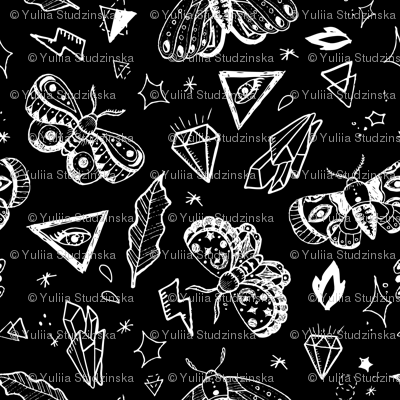 White tattoo butterflies