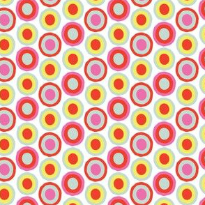 Bright Spring Dots Spots Red Blue Yellow Pink White _Miss Chiff Designs